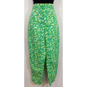 Vintage 60s Meadowbank floral high waisted pants